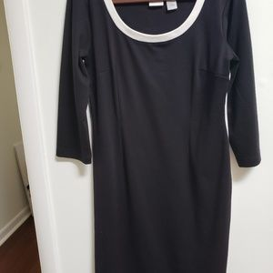 Sporty Black Body Con Dress